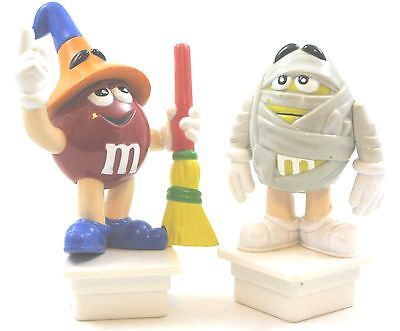 M&M 2005 Halloween Topper PR M&M's New Witch & Mummy Sq Base Toppers Lot  VHTF