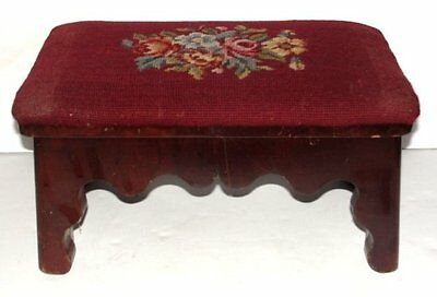 "Cricket Footstool, Bench, Empire, mahogany, cutout skirt, bracket ft, 16"", c1850"
