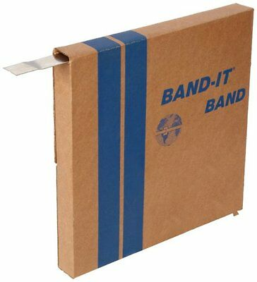 "BAND-IT G43299 201 Stainless Steel Giant Band, 1-1/4"" Width X 0.044"" Thick, 100"