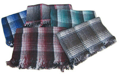 #4358 Two Mexico Recycled Wool Blend Blanket Yoga Accessories Lot Catalina Throw