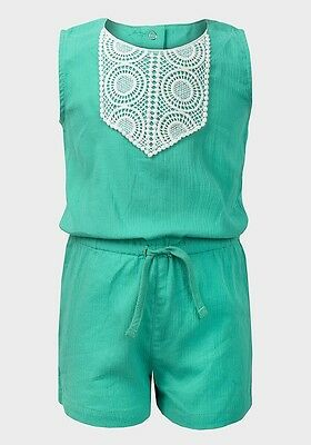 Bnwot Girls Ex Carters Green Short Playsuit Age 4 Years Only Left