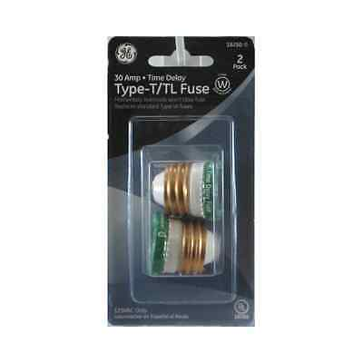 GE Type T/TL Time Delay Fuse, 30-Amp, 2-Pack 18250