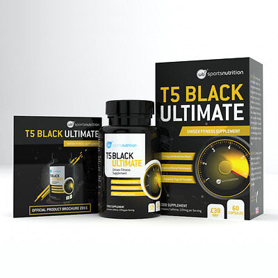 T5 Black Heat Thermogenic Fat Burners Extreme Diet Weight Loss Slimming Pills