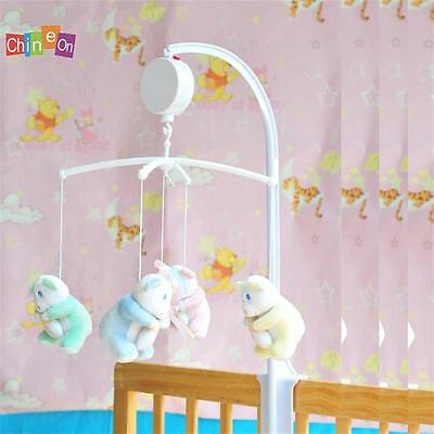 Baby Crib Mobile Bed Bell Toy Holder Arm Bracket with Wind-up Auto Music Box