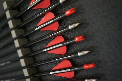 """12x 32"""" CARBON ARROWS FOR COMPOUND AND RECURVE BOW TARGET ARCHERY"""
