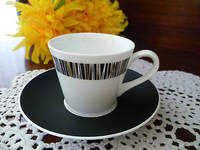 Royal Tuscan Cascade Vintage Demitasse Coffee Cup Saucer Fine Bone China c1960's