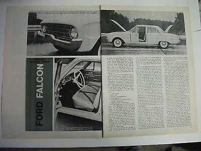 1959 Ford Falcon Complete 4 Page Usa Magazine Road Test