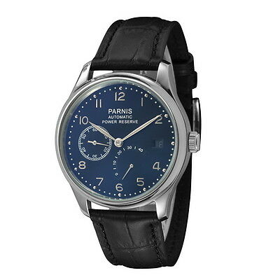Parnis 43mm Power Reserve Seagull 2530 Men's Automatic Wrist Watch
