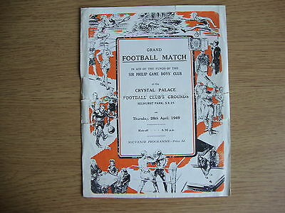 1948/9 Ronnie Rooke's XI v Tommy Lawton's XI - Benefit Match @ Crystal Palace