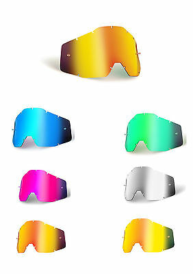 Goggle Shop MX lens for 100% - Mirror: All Colours