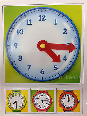 Kids Teach Tell Time Learning Clock Game Jigsaw Puzzle My First Clock Play Game