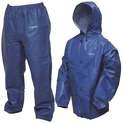 Royal Blue Frogg Toggs Pro Lite Rain Suit Medium/Large Washable and Recyclable