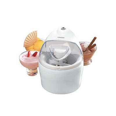 KENWOOD IM200 Ice-cream Maker White Plastic Clear Lid Makes 1.1 Litres In 40 Min