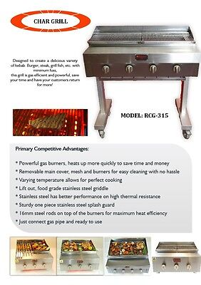Chargrill Charcoal grill Flame grill ON STAND WITH FULL GRIDDLE / NATURAL GAS