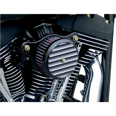 Joker Machine Filtro de aire Performance Finned negro (Harley Davidson XL 91-06)