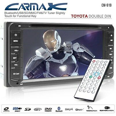 "TOYOTA Double DIN Size 215mm 6.95"" HD Screen Car DVD Stereo Player w/ Bluetooth"
