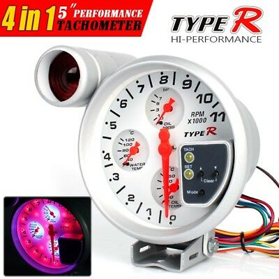 "5"" 4 in 1 Monster Tachometer Oil Temp, Water & Oil Pressure Gauge"