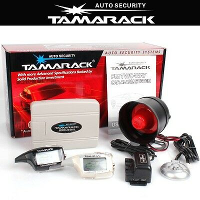 New TAMARACK 5KM 2 Way Pager Remote Engine Start Car Alarm Immobilizer