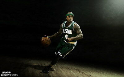 "037 Isaiah Thomas - BOSTON CELTICS Basketball NBA Star 22""x14"" Poster"