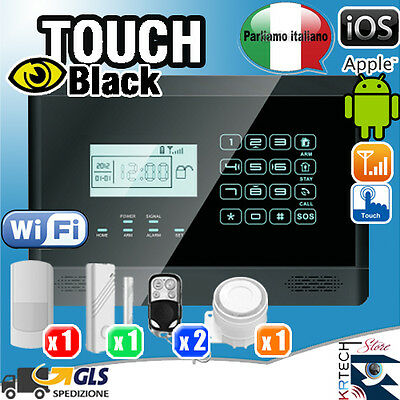 Antifurto Casa Allarme Senza Fili Touch Screen Kit Combinatore Gsm Wireless App