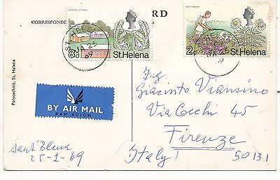 ST HELENA 10d RATE TO ITALY 1969