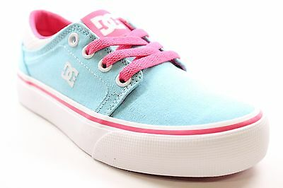 New DC Shoes Girls Trase TX Low Top Casual Sneaker Shoes Blue/Pink Size 1 BW1