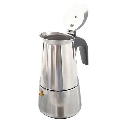 100ML Stainless Steel Coffee Maker Percolator Stove Top Pot  FP6