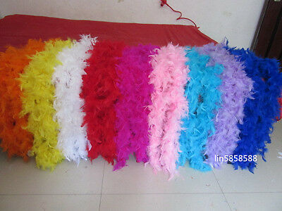 QUALITY FEATHER BOA BURLESQUE 2Meter DANCE HEN NIGHT FANCY DRESS ACCESSORY