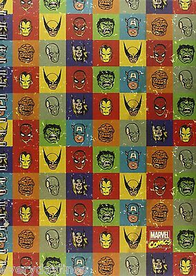 Marvel Faces - A4 Spiral Bound Hardback Notebook - 90 Double Sided Pages