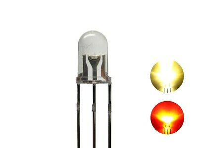 S680 10 Pcs DUO LEDs 5mm Bi-Color warm white red 3-pin