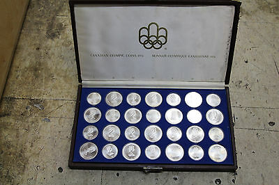 1976 Montreal Canadian Olympic 28 Uncirculated Sterling Coin Set