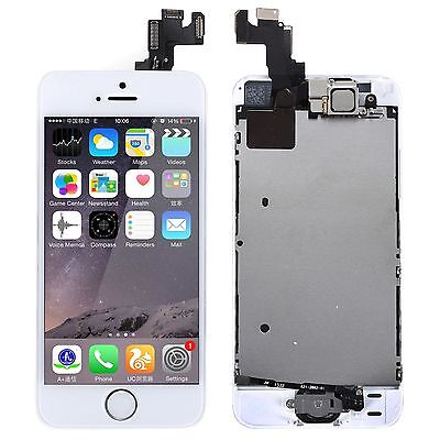 New Replacement Touch Screen LCD Digitizer Assembly For iPhone 5S White + Tools