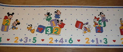 Vintage Disney Babies Wallpaper Border 80s Blue - Matches Dundee Nursery Blanket