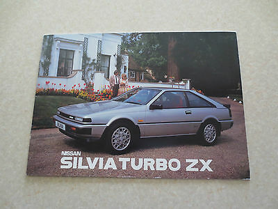 1986 Nissan Silvia Turbo ZX advertising booklet