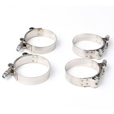 """4X 2""""/51mm Stainless Steel T-Bolt Clamps Turbo Intake Silicone Hose Coulper Clam"""