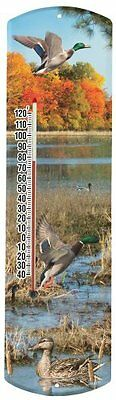 Heritage America by MORCO 375MALD Mallard Duck Outdoor or Indoor Thermometer, 20