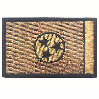 Tennessee TN STATE FLAG USA ARMY MORALE TACTICAL MILITARY 3D HOOK PATCH