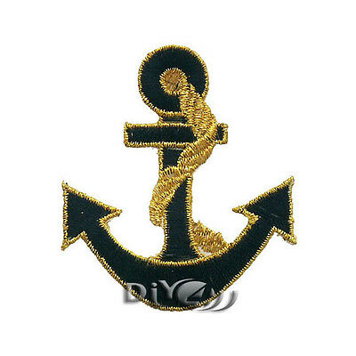 Anchor Patch Iron On Sew on Badge Applique Patch For Sewing  5.5cm x 6.2cm