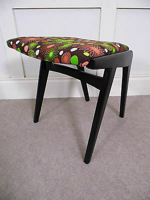 Stylish Vintage Retro Limelight Dressing table stool reupholstered 50s 60 chic B