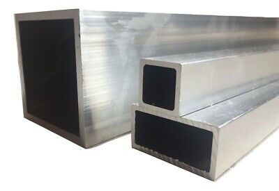 Aluminium Rectangular / Square Tube/Box Section Length 500 mm  -  6000 mm