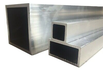 Aluminium Rectangular / Square Tube/Box Section size 12x8-50x50mm many lengths