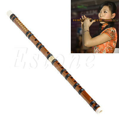 Chinese Traditional Musical Instrument Handmade Bamboo Flute in F Key