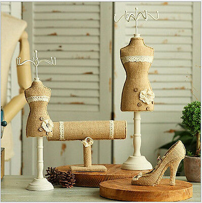 Lace Mannequin Jewelry Display Rack Stand Holder for Necklace Earring Bracelet