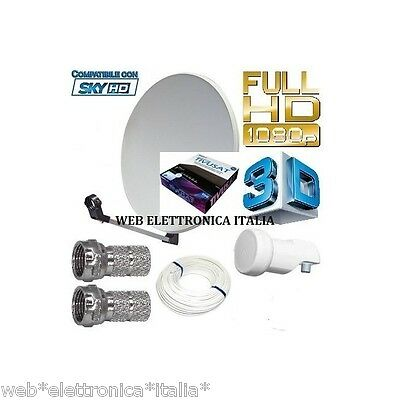 Kit Satellite Tivu' Sat Hd Parabola 60 Cm+Decoder Hd+Card+Lnb+Cavo+Spinotti