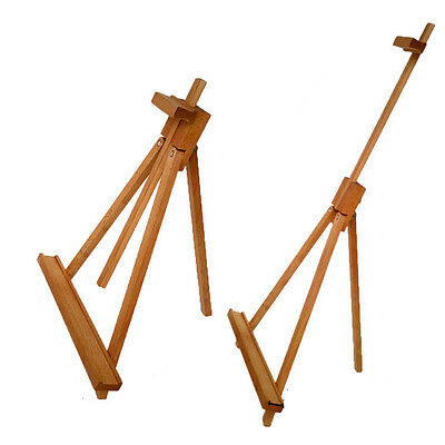 Exhibition painting adjustable beech wooden tabletop easel