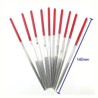 10pcs Jewelers Diamond Glass Stone Wood Carving Craft Metal Needles Files Sets