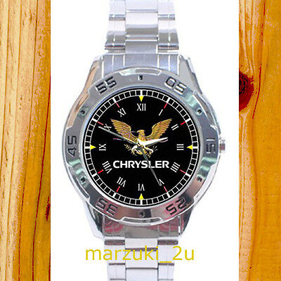 NEW RARE Chrysler Imperial Crown Eagle CUSTOM CHROME MEN'S WATCH WRISTWATCHES