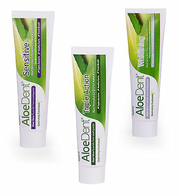 Aloe Dent Aloe Vera Toothpaste Fluoride Free by Optima Choose From 3 Types
