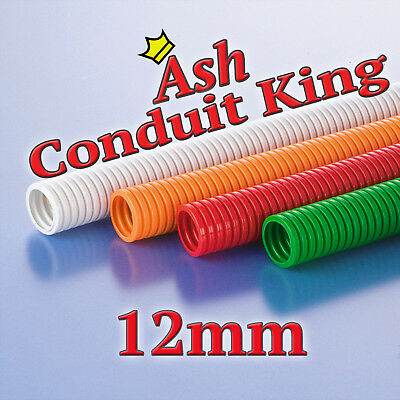 12mm Polypropylene Flexible Conduit Cable tidy LSOH Various Colours 1-100M