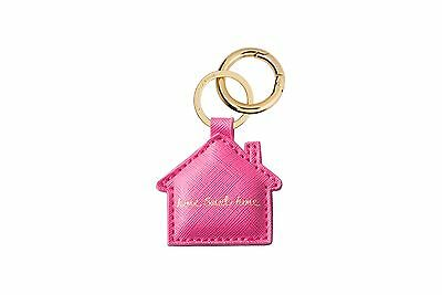 Katie Loxton Bag Charm / Key Ring -' Home Sweet Home' Raspberry with gift bag